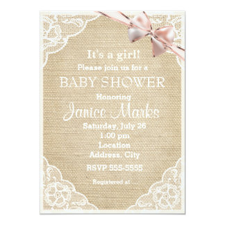 Lace Baby Shower Invitations Announcements Zazzle