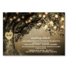 Vintage Rustic Carved Oak Reception + Hotel Cards