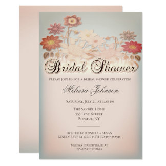 Vintage Rustic Country Bridal Shower Invitation