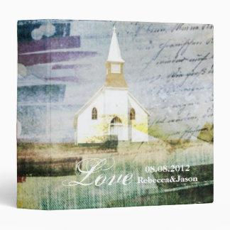 vintage rustic country chapel wedding binder