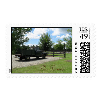 Vintage Rustic Country Truck Stamps