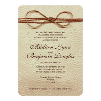 Vintage Rustic Country Wedding Invitations