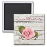vintage rustic country wedding save the date 2 inch square magnet