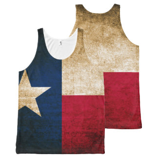 Vintage Rustic Flag of Texas All-Over Print Tank Top