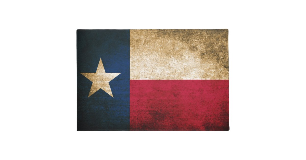 Vintage Rustic Flag Of Texas Doormat Zazzle Com
