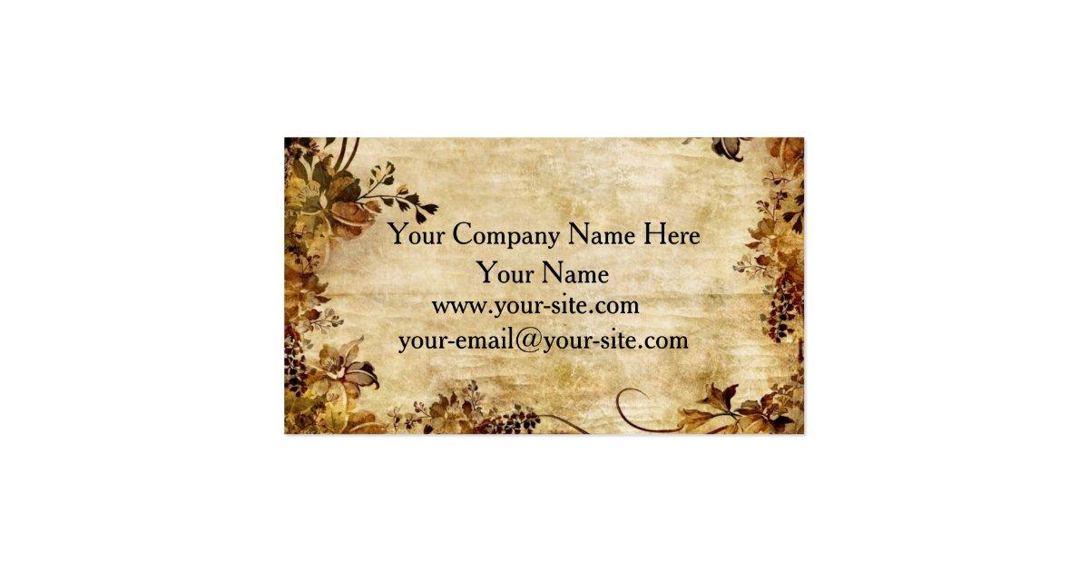 Vintage Rustic Floral Business Cards Zazzle