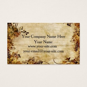 Professional Business Vintage Rustic Floral Business Cards