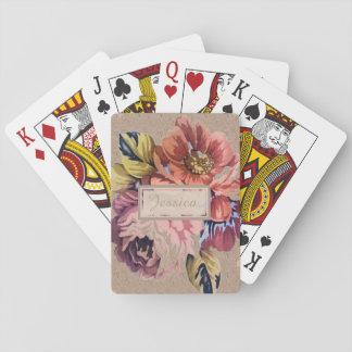Vintage Rustic Floral Card Decks