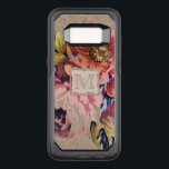 """Vintage Rustic Floral OtterBox Commuter Samsung Galaxy S8 Case<br><div class=""""desc"""">Personalized,  monogram gifts and accessories with a pretty vintage floral pattern on a rustic,  textured look background.</div>"""