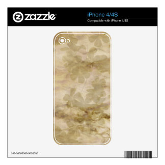 Vintage Rustic Floral Pattern Design Decals For The iPhone 4