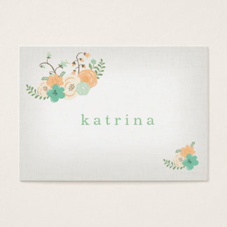 vintage rustic floral placecard business card