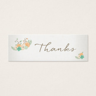 Vintage Rustic Floral Thanksgiving Thank you Tag