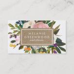 """Vintage Rustic Florals Business Card<br><div class=""""desc""""></div>"""