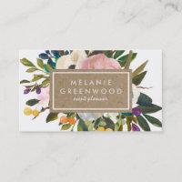 Vintage Rustic Florals Business Card