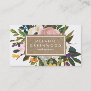 vintage rustic florals business card - Vintage Business Cards