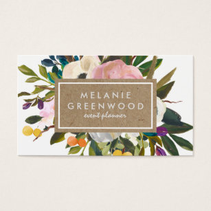 Floral business cards templates zazzle vintage rustic florals business card flashek Choice Image