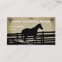 Vintage Rustic Horse Business Card Farm or Ranch