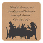 Vintage Rustic Mad Hatters Tea Party Birthday Card