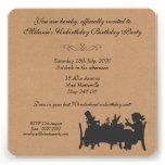 Vintage Rustic Mad Hatters Tea Party Birthday Custom Invite