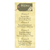 vintage rustic mason jar wedding menu