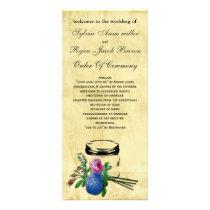 vintage rustic mason jar  Wedding program