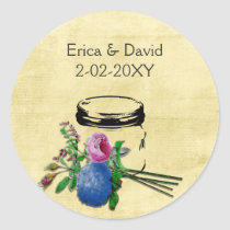 vintage rustic mason jar wedding seals