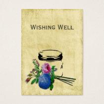vintage rustic mason jar wishing well cards