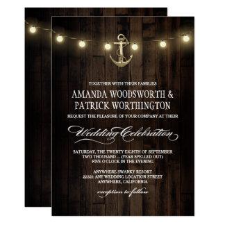 Good Vintage Rustic Nautical Anchor Wedding Invitations