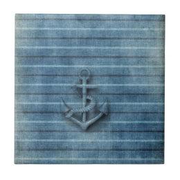 Vintage rustic nautical classy anchor ceramic tile