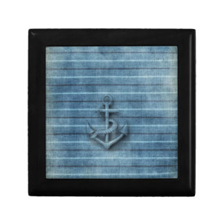 Vintage rustic nautical classy anchor gift box