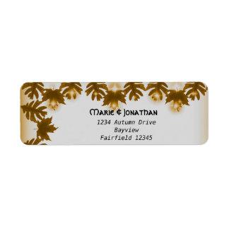 Vintage Rustic oak tree canopy wedding Custom Return Address Labels