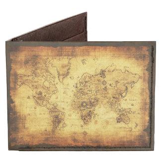 Vintage Rustic Old World Map Tyvek Wallet