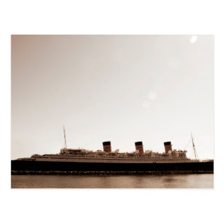 Vintage Rustic Sepia Aged Queen Mary Post Card