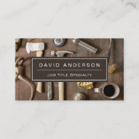 Vintage Rustic Tools Carpenter Handyman Woodworker Business Card