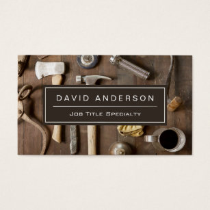 Carpenter business cards templates zazzle vintage rustic tools carpenter handyman woodworker business card fbccfo Choice Image