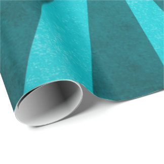 Vintage Rustic Turquoise Blue Starburst Pattern Wrapping Paper