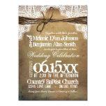 Vintage Rustic Typography Wedding Invitations Custom Announcement