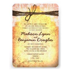 Vintage Rustic Typography Wedding Invitations