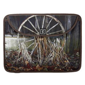 Vintage Rustic Wagon Wheel Artwork Laptop Sleeve