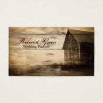vintage rustic western country barn farm business card