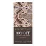 vintage rustic western country chic lace barn wood rack card