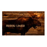 vintage rustic WESTERN country woodgrain MOOSE Double-Sided Standard Business Cards (Pack Of 100)