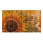 vintage rustic yellow sunflowers country floral Double-Sided standard business cards (Pack of 100)