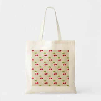 Vintage rústico de las cerezas de la impresión bolsas