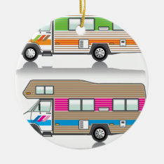 Vintage Rv Ceramic Ornament at Zazzle