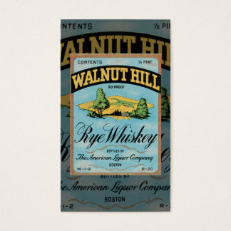 Vintage Rye Whiskey Business Card