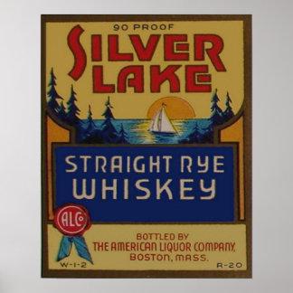 Vintage Rye Whiskey Liquor Retro Advertisement Poster