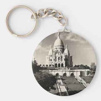 Vintage Sacré-Coeur de Montmartre in Paris Photo Keychain
