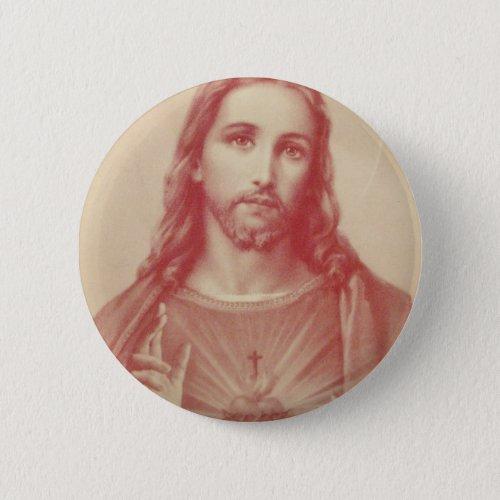 Vintage Sacred Heart of Jesus Button