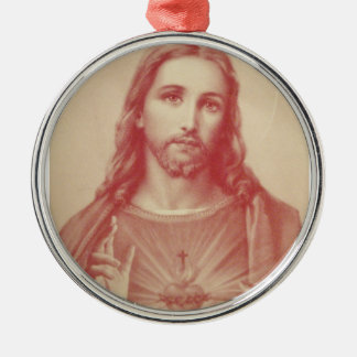 Vintage Sacred Heart of Jesus Christmas Ornament